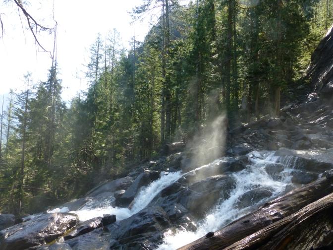 Spray from Bridal Veil Falls