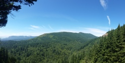 Panorama of the back side of the Mountain